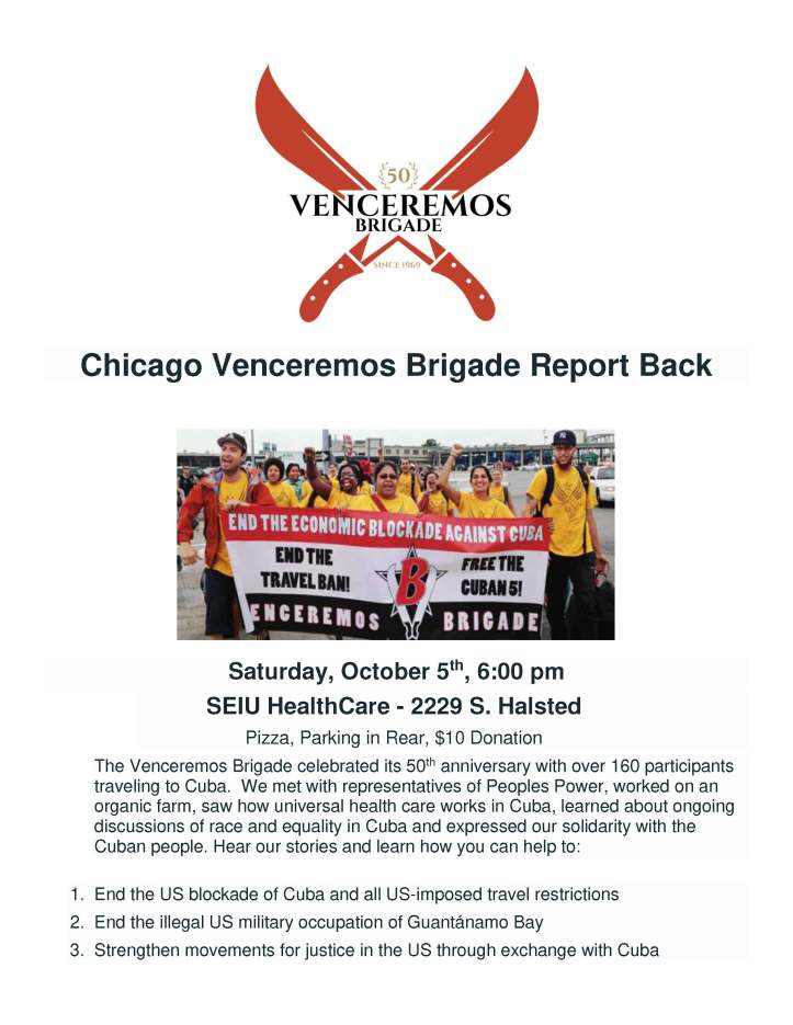 Revised Chicago Venceremos Brigade Report Back